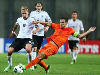 Кевин Стротман в матче против Германии