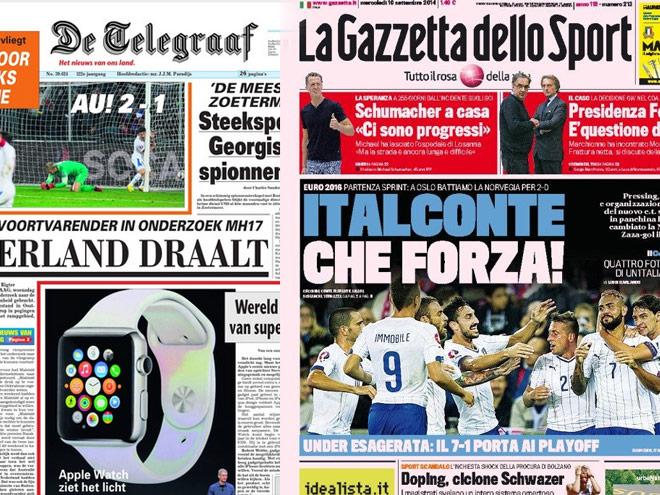 Сборные Нидерландов и Италии - в обзоре СМИ