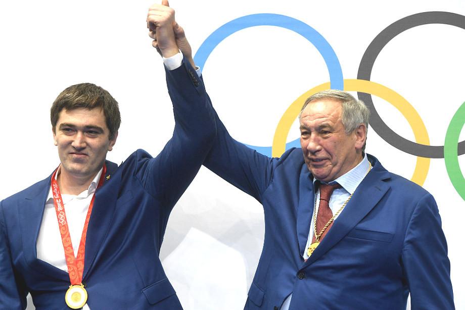 Бахтияра Ахмедов и Шамиль Тарпищев