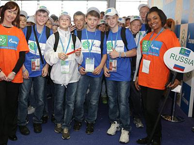 Российские дети посетили финал Лиги чемпионов