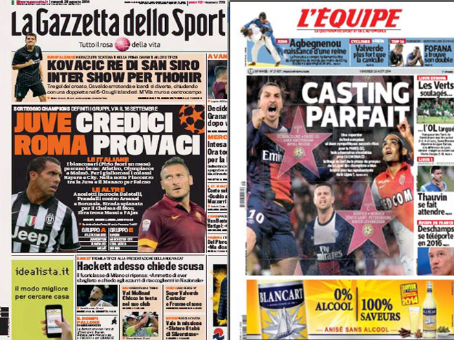 Жеребьёвка ЛЧ - в обзоре футбольной прессы