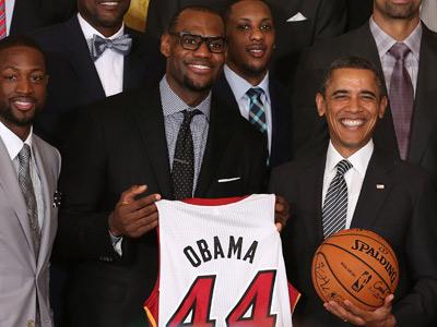 """Игроки """"Майами"""" посетили Белый дом"""