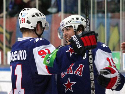 СКА всухую разгромил ЦСКА и вышел во второй раунд плей-офф КХЛ