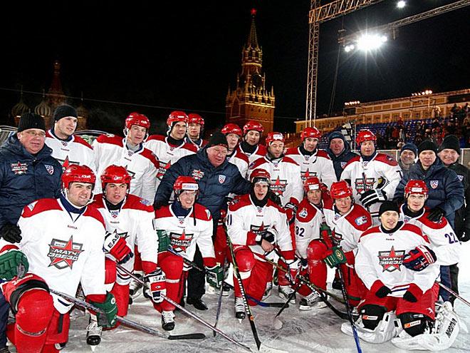 Матч звёзд КХЛ на Красной площади
