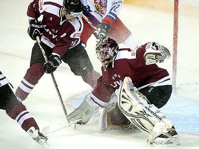 Сборная Латвии во второй раз проиграла сборной Чехии