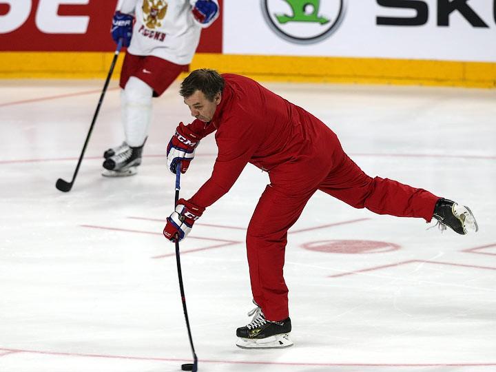Сборная России провела тренировку перед полуфиналом с Канадой на ЧМ-2017