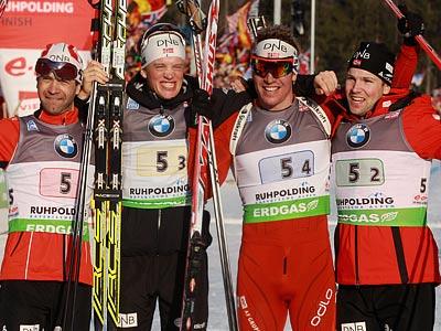 Сборная России заняла шестое место в эстафете на ЧМ по биатлону