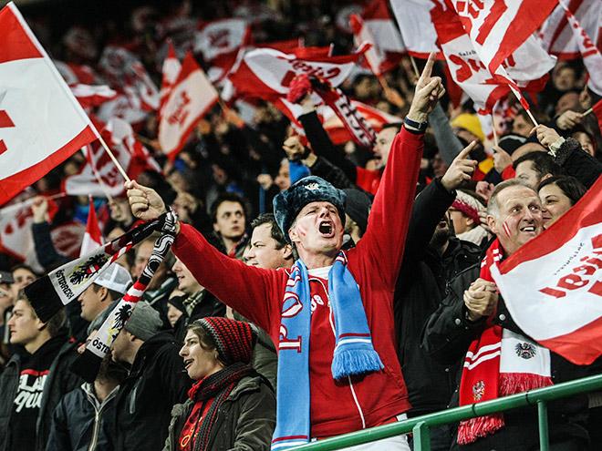 Болельщики сборной Австрии по футболу