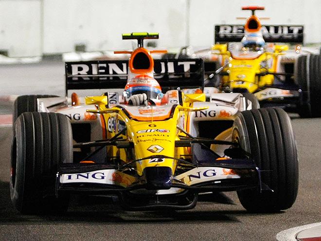Гран-при Сингапура-2008: запланированная авария Пике и победа Алонсо