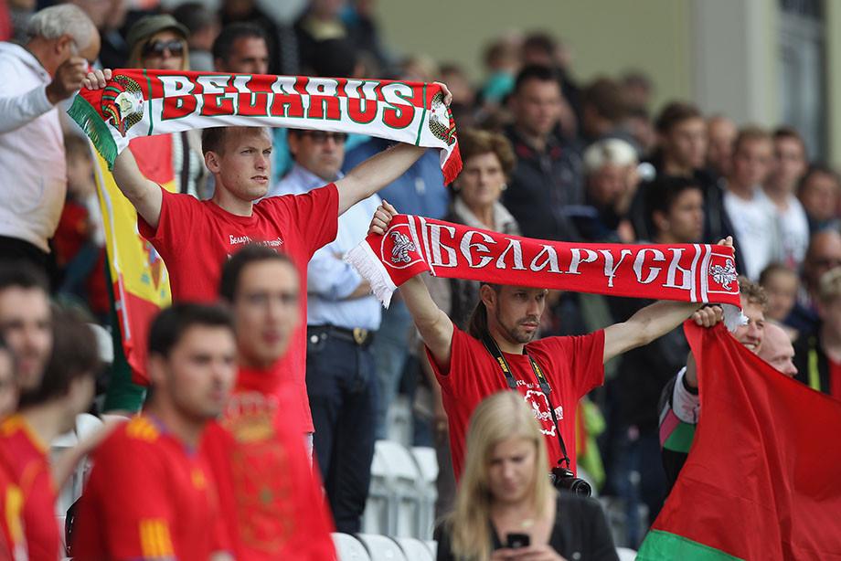 Белорусы прокричали «Кто нескачет, тот москаль!» вовремя матча Лиги наций