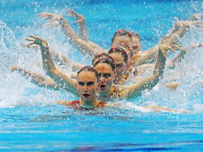 Лондон-2012. Синхронное плавание. Анастасия Давыдова