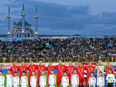 Сборная России впервые играл в Казани