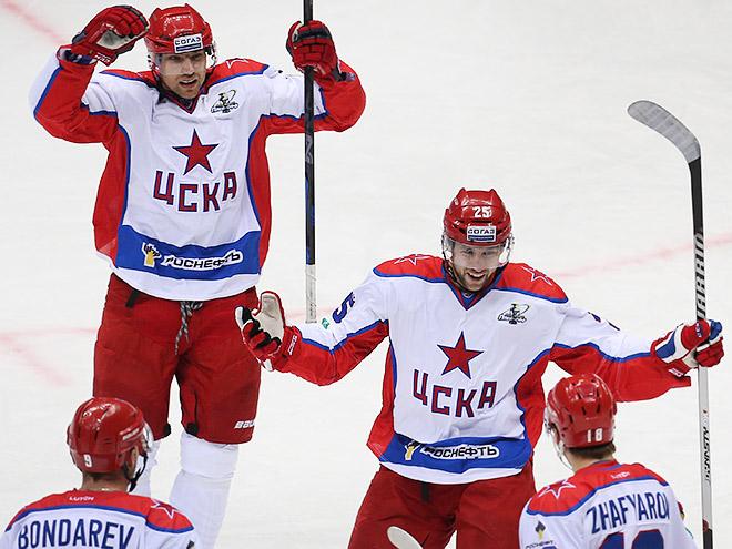 ЦСКА спокойно вышел в четвертьфинал Кубка Гагарин
