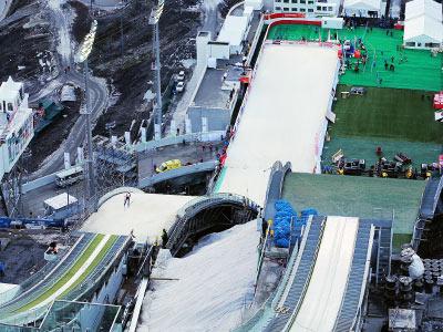 Олимпиада в  Сочи. Оснежение лыжного трамплина