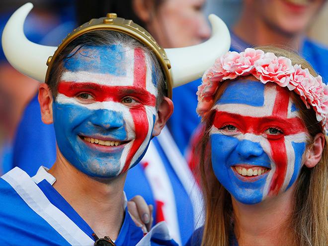 Болельщики сборной Исландии по футболу