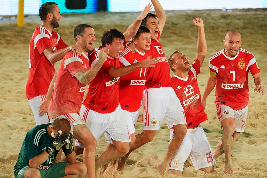 Пляжный футбол, Россия — Бразилия