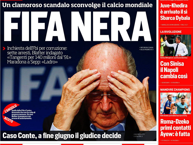 Пресса – о коррупционном скандале в ФИФА