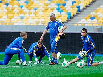 Репортаж с открытой тренировки сборной Украины