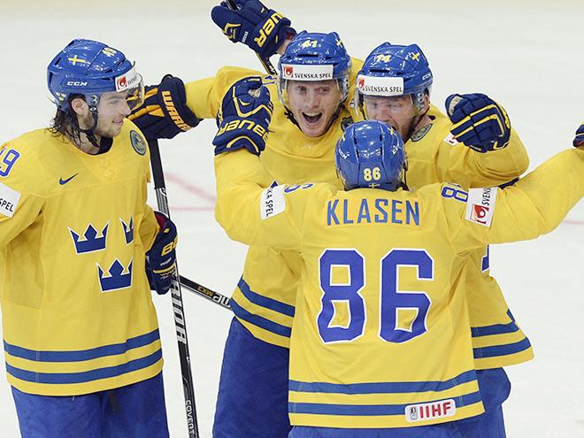 Командное фото сборной Щвеции