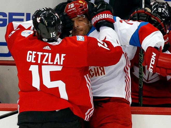 Выставочный матч перед Кубком мира. Россия — Канада — 2:3 ОТ