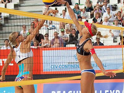 Российские «пляжницы» обыграли Швейцарию в полуфинале Кубка ЕКВ