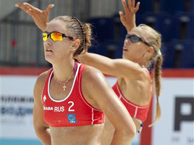 Российские пляжницы выиграли в 1/4 финала у команды Австрии - 3:1