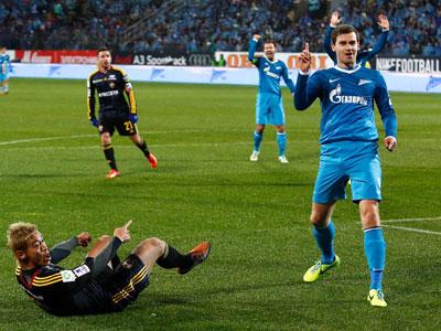 Николас Ломбертс в матче против ЦСКА