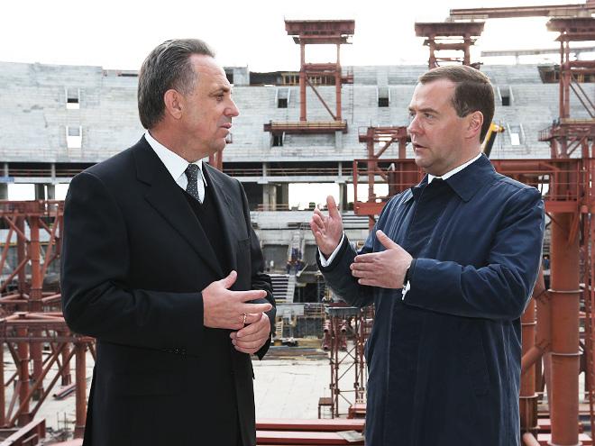 Виталий Мутко и Дмитрий Медведев