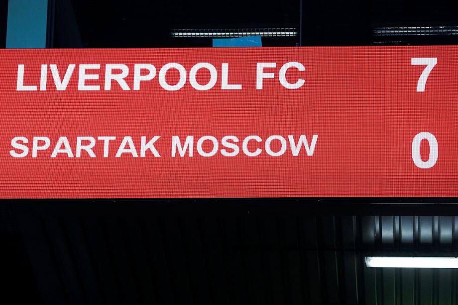 «Ливерпуль» — «Спартак» — 7:0