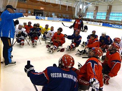 В Алексине прошёл сбор российских следж-хоккеистов