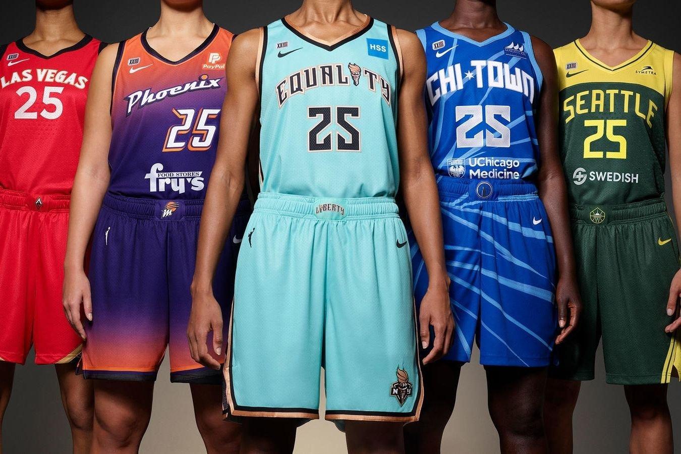 Как выглядят новые майки женской НБА