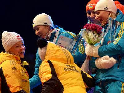 Женская сборная Украины вторая в эстафете в Сочи