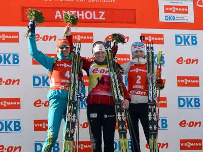 Елена Пидгрушная вторая в гонке преследования