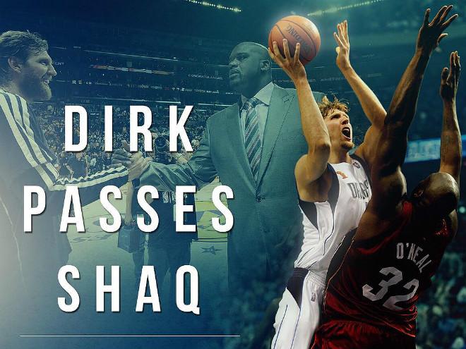 Дирк Новицки вышел на 6-е место в списке лучших бомбардиров НБА