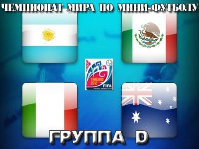 Анонс группы D чемпионата мира по мини-футболу