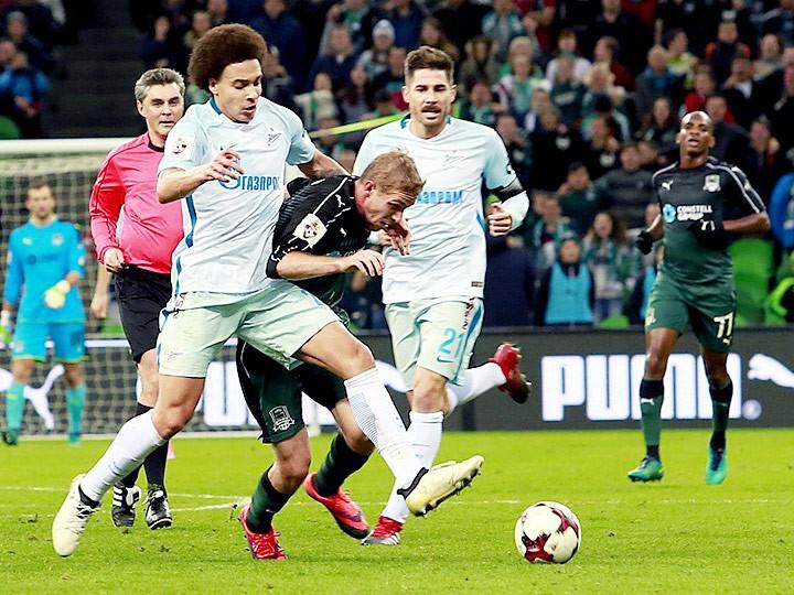 «Зенит» проиграл «Краснодару», пропустив два гола в концовке