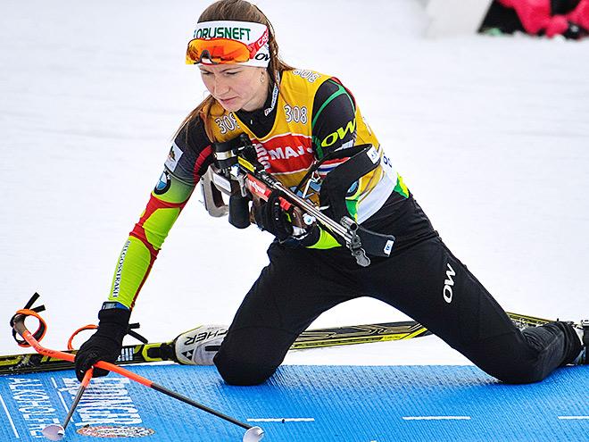 Дарья Домрачева выиграла гонку преследования