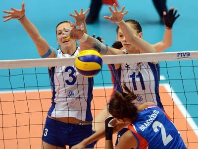 Лондон-2012. Волейбол. Мария Перепёлкина (слева)