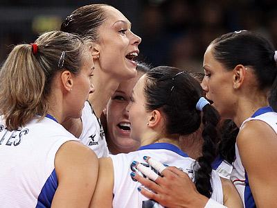 Женская сборная России по волейболу победила Великобританию