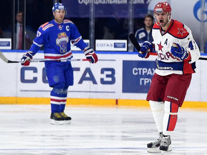 ЦСКА выиграл у СКА в первом матче сезона КХЛ