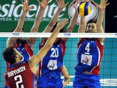 Россия проиграла Сербии в матче Мировой лиги