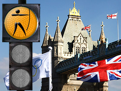 """""""Лондонский светофор"""". Стрельба из лука"""