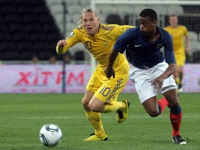 Сборная Украины сыграет с Францией