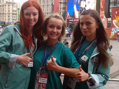 Только в Киеве на Евро-2012 трудится 2 000 волонтёров от города