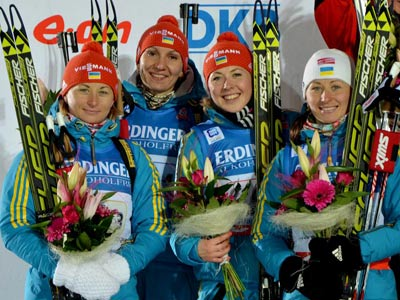 Сборная Украины по биатлону вернулась домой