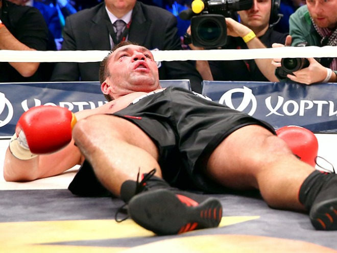 Обзор до и послематчевых реплик Кличко и Пулева