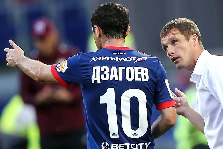 Алан Дзагоев и Виктор Гончаренко