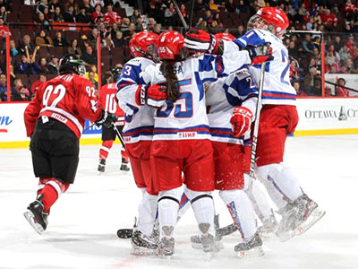 Женская сборная России пробилась в полуфинал ЧМ