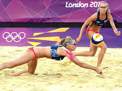 Лондон 2012. Пляжный волейбол. Уколова/Хомякова
