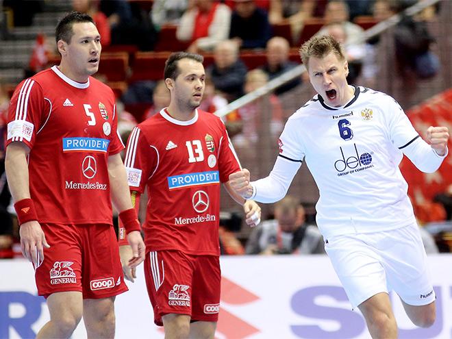 Чемпионат Европы по гандболу. Россия  победила Венгрию – 27:26